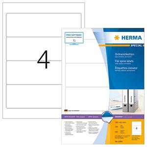 400 HERMA Ordneretiketten 4284 weiß für 7,0 - 8,0 cm Rückenbreite