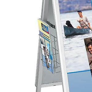 Showdown® Displays Prospektkorb für Plakatständer