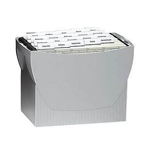 HAN Hängeregistraturbox ohne Mappen Swing grau ohne Deckel für 20 Hängemappen oder 3 schmale Ordner