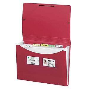 FolderSys Fächermappe   7 Fächer rot