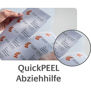 25 AVERY Zweckform Folien-Versandetiketten J8567-25 transparent