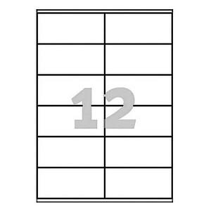 1.200 AVERY Zweckform Etiketten 3424 weiß
