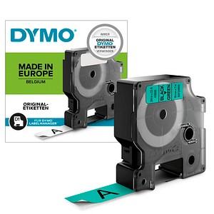 DYMO Beschriftungsband D1 S0720890, 19 mm schwarz auf grün