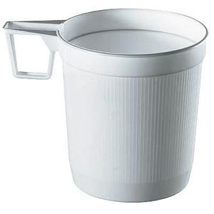 40 PAPSTAR Einweg-Kaffeetassen Kunststoff
