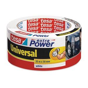 tesa extra Power® Universal  Gewebeband weiß 50,0 mm x 25,0 m 1 Rolle