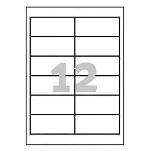 1.200 AVERY Zweckform Etiketten 3659 weiß