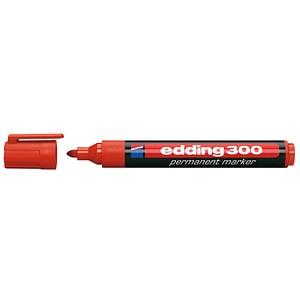 10 edding 300 Permanentmarker rot 1,5 - 3,0 mm