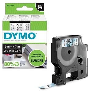 DYMO Beschriftungsband D1 40910 S0720670, 9 mm schwarz auf transparent