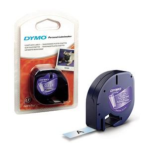 DYMO Beschriftungsband LetraTag 16951 S0721530, 12 mm schwarz auf transparent