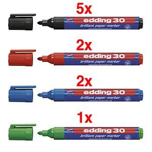 10 edding Brilliant-Paper-Marker 30 Permanentmarker farbsortiert 1,5 - 3,0 mm