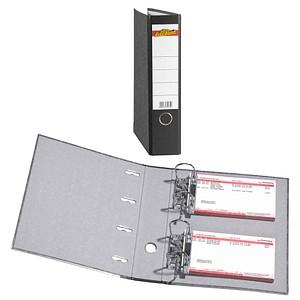 office discount Wolkenmarmor-Papier Doppelordner schwarz Karton 7,0 cm
