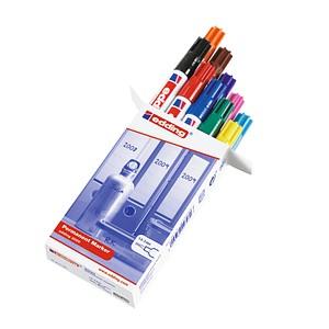 10 edding 3000 Permanentmarker farbsortiert 1,5 - 3,0 mm