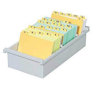 HAN   Karteikasten DIN A6   für 800 Karteikarten grau ohne Deckel