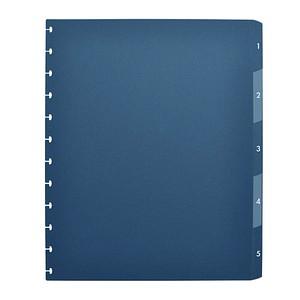 OXFORD Ordnerregister vario-zipp DIN A4 Vollformat 1-5 blau 5-teilig