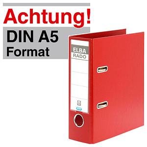 ELBA A5 Hochformat  Ordner rot Kunststoff 7,5 cm DIN A5 hoch