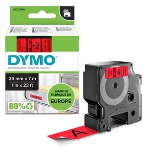 DYMO Beschriftungsband D1 53717 S0720970, 24 mm schwarz auf rot