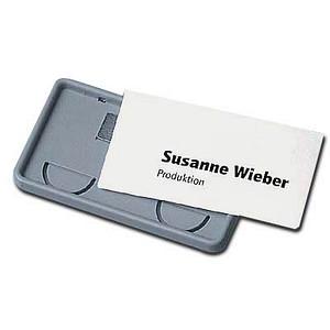 25 DURABLE Clip-Card Namensschilder