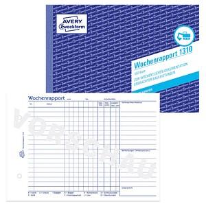 AVERY Zweckform Formularbuch 1310 Wochenrapport