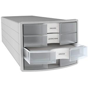 HAN Schubladenbox Impuls transparent DIN C4 mit 4 Schubladen