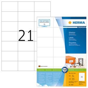 2.100 HERMA Etiketten 4668 weiß
