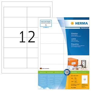 1.200 HERMA Etiketten 4669 weiß