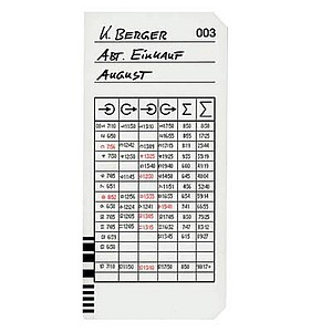 200 BÜRK MOBATIME Stempelkarten Typ 2 - 5