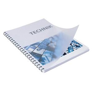 100 RENZ Deckblätter für Bindemappen transparent