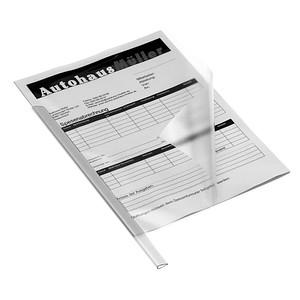 50 DURABLE Klemmschienen transparent