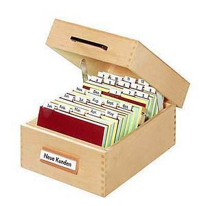 HAN   Karteikasten DIN A5   für 900 Karteikarten braun mit Deckel