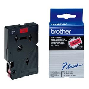 brother Beschriftungsband TC-491 TC491, 9 mm schwarz auf rot