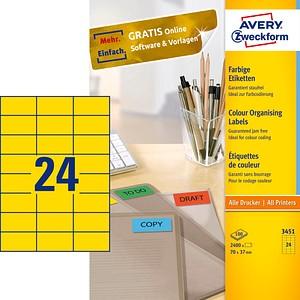 2.400 AVERY Zweckform Etiketten 3451 gelb