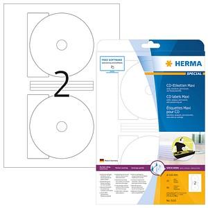 50 HERMA CD-Etiketten 5115 weiß