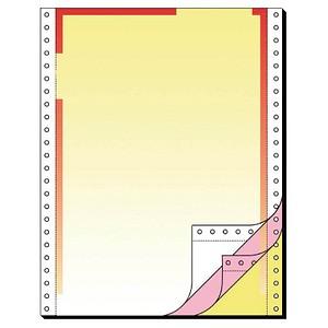 SIGEL Endlospapier A4 hoch 3-fach, 70 g/qm gelb 400 Blatt