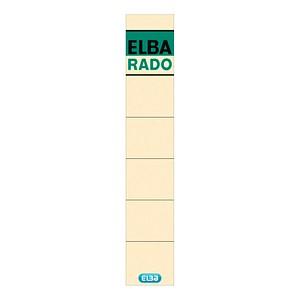 10 ELBA Ordneretiketten weiß für 5,0 cm Rückenbreite