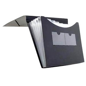 FolderSys Fächermappe   5 Fächer schwarz