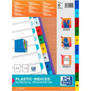 OXFORD Ordnerregister   DIN A4 Vollformat 1-10 farbsortiert 10-teilig