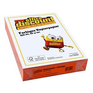 office discount Kopierpapier Color rotorange DIN A4 80 g/qm 500 Blatt