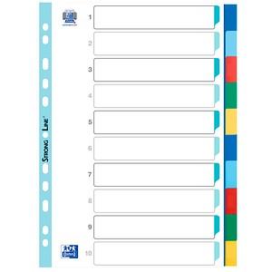 OXFORD Ordnerregister   DIN A4 Vollformat blanko farbsortiert 10-teilig