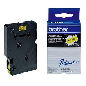 brother Beschriftungsband TC-601 TC601, 12 mm schwarz auf gelb