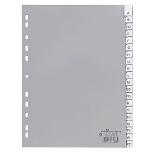 DURABLE Ordnerregister   DIN A4 Vollformat A-Z grau 20-teilig