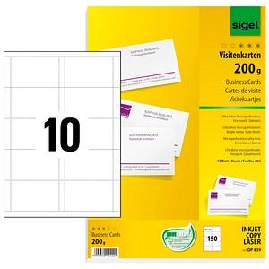 150 Sigel Visitenkarten Dp839 Weiß