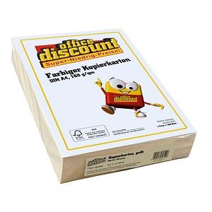 office discount Kopierpapier Color gelb DIN A4 160 g/qm 250 Blatt
