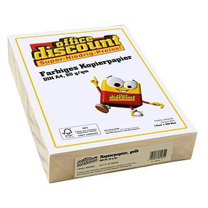 office discount Kopierpapier Color gelb DIN A4 80 g/qm 500 Blatt