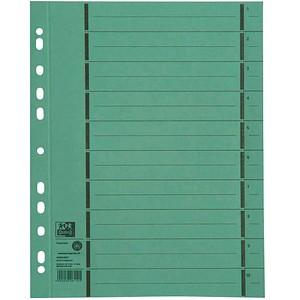 100 OXFORD Trennblätter grün