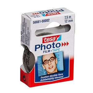 tesa Photo Film doppelseitiges Klebeband transparent 12,0 mm x 7,5 m 1 Rolle