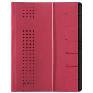 5 ELBA Ordnungsmappen chic 7 Fächer rot