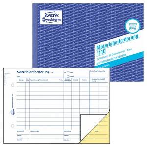 AVERY Zweckform Formularbuch 1110 Materialanforderung