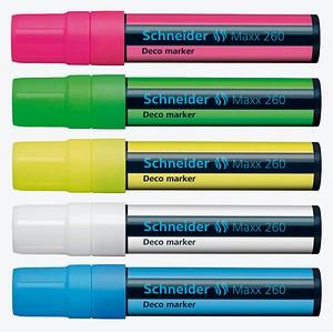 5 Schneider Maxx 260 Kreidemarker farbsortiert 5,0 - 15,0 mm