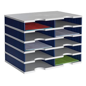 styro Sortierstation Styrodoc grau/blau mit 10 Fächern