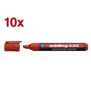 10 edding 330 Permanentmarker rot 1,0 - 5,0 mm